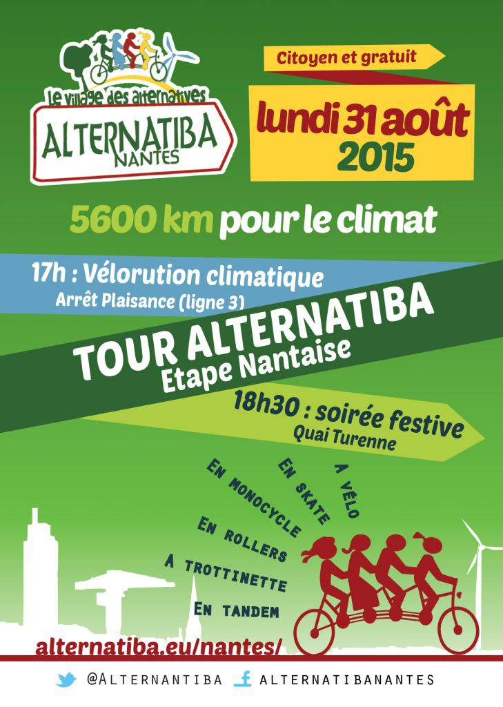 Programme Tour Alternatiba Nantes Recto
