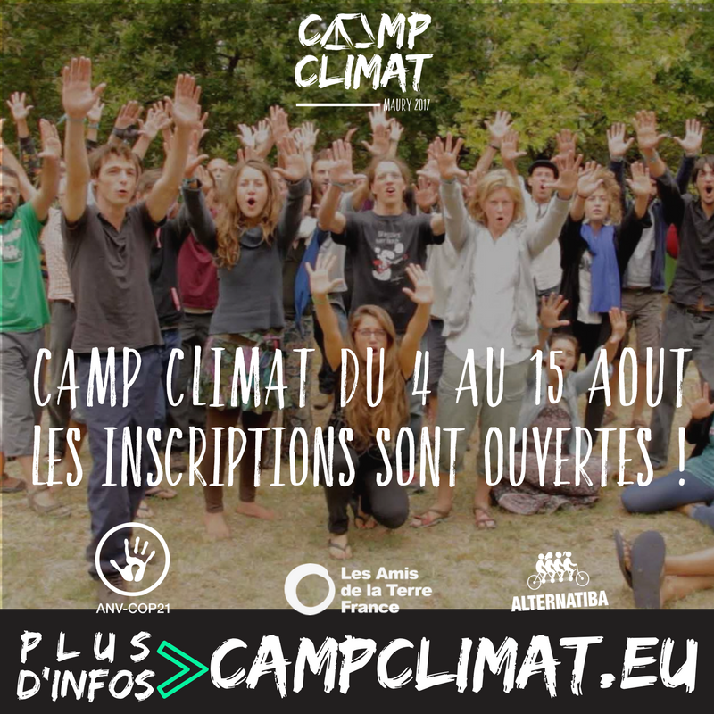 Camp Climat inscriptions