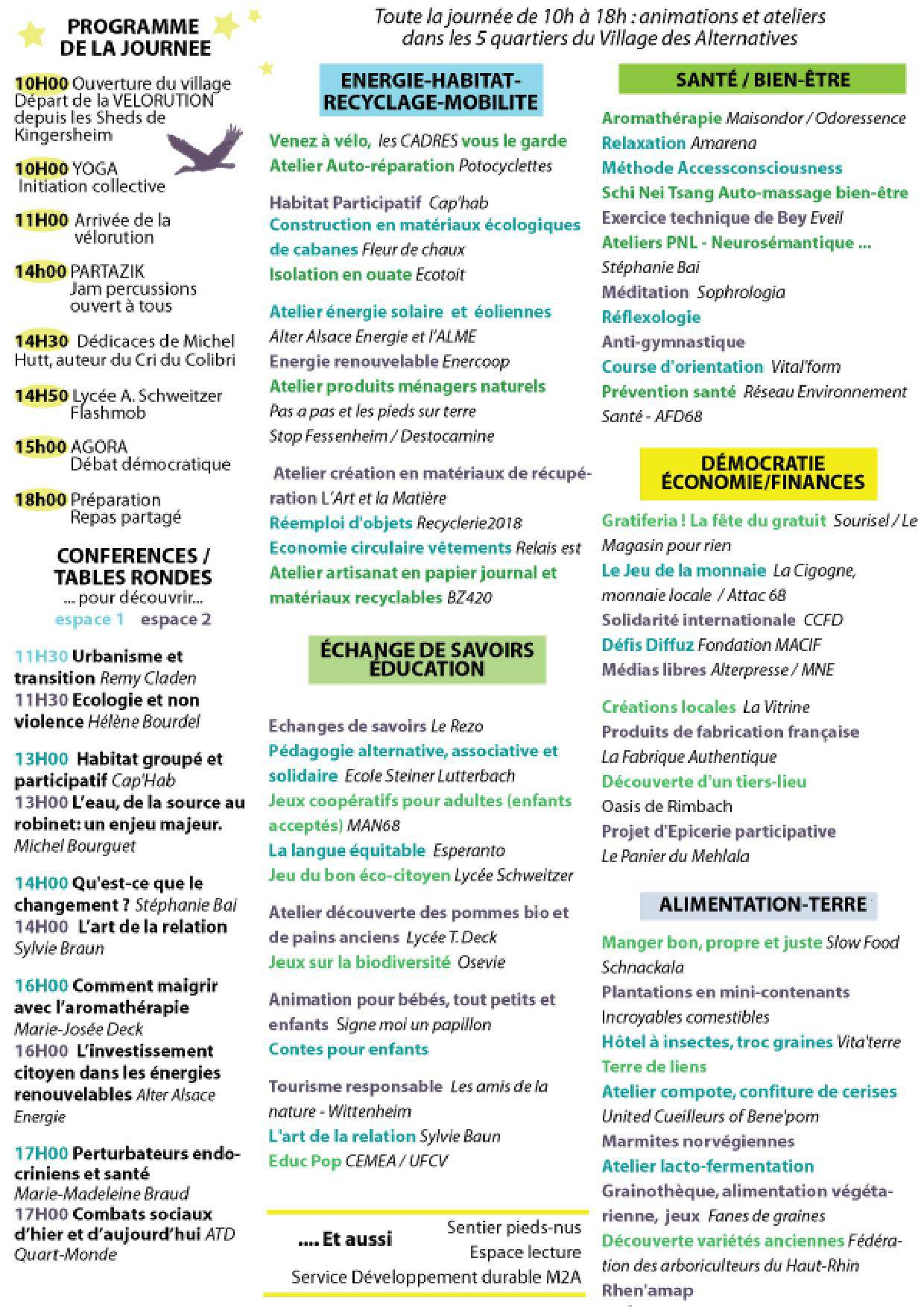 Programme Alternatiba Mulhouse