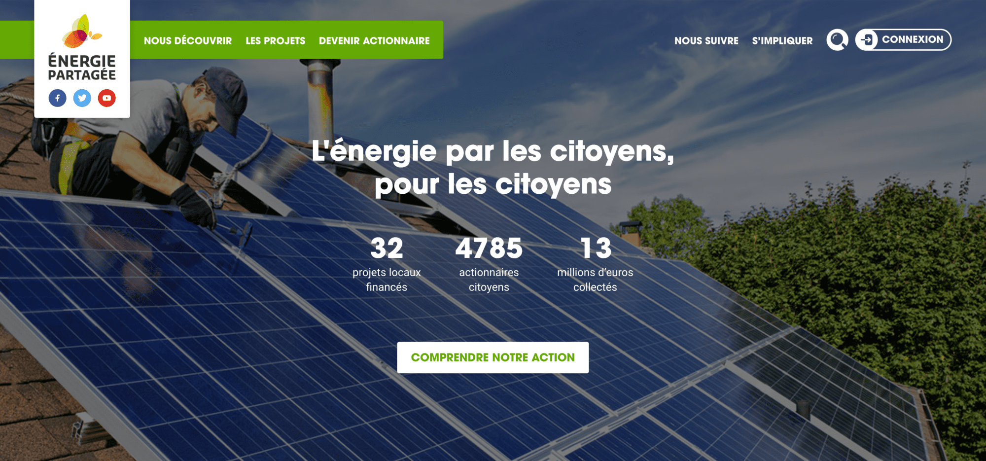 Page d'accueil Énergie Partagée