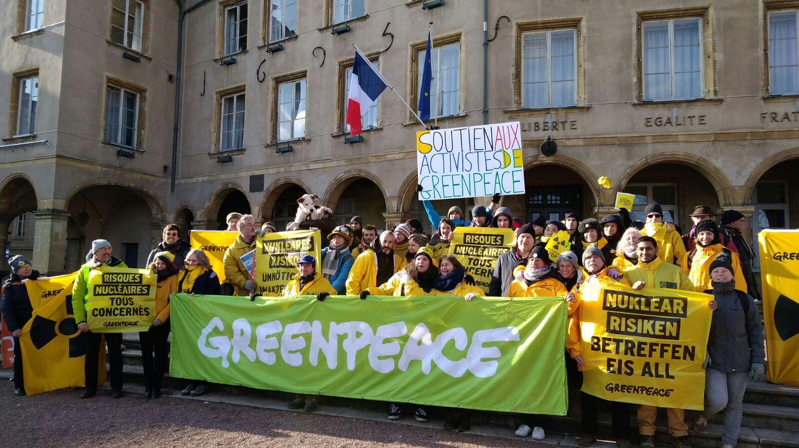 Nucléaire : procès d'EDF contre Greenpeace