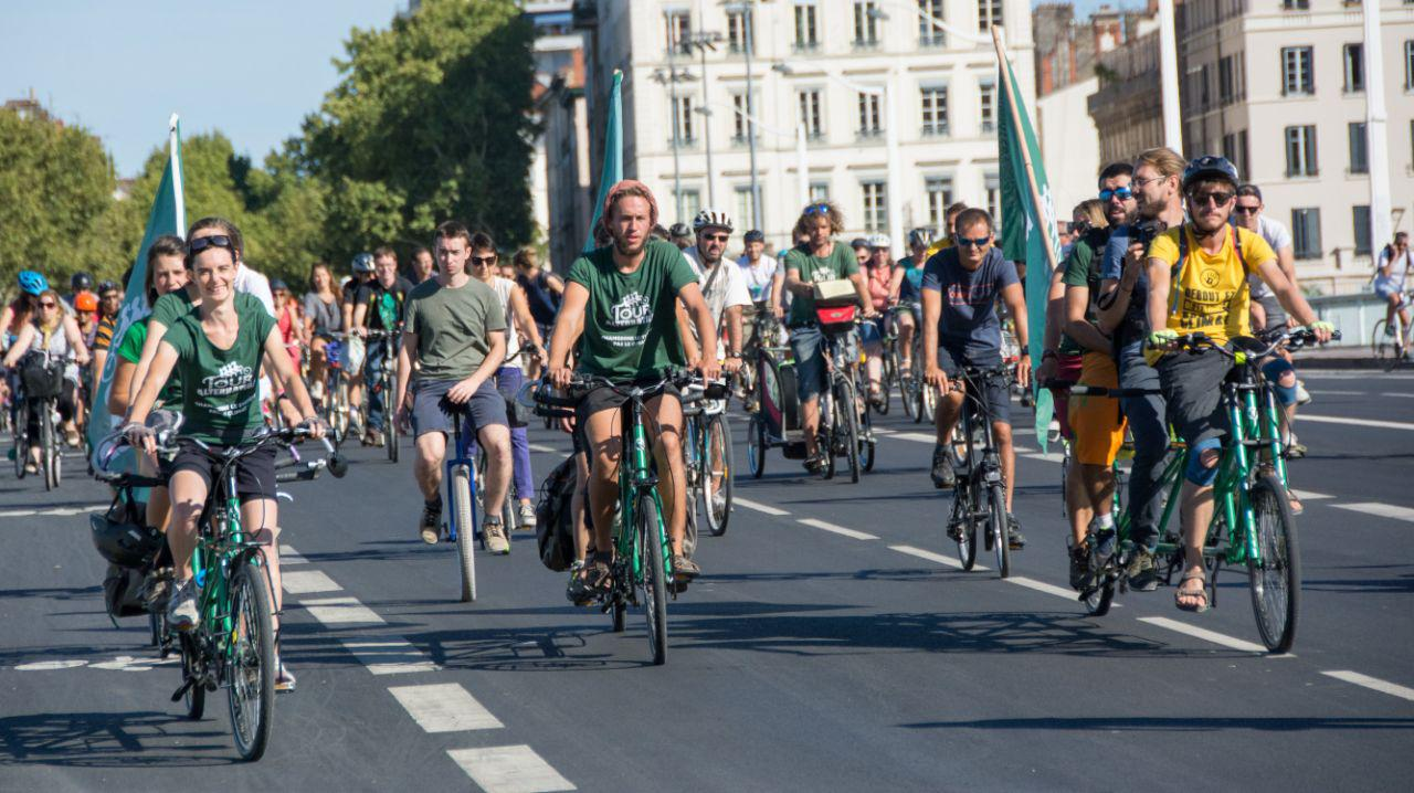 Vélorution à Lyon Tour Alternatiba