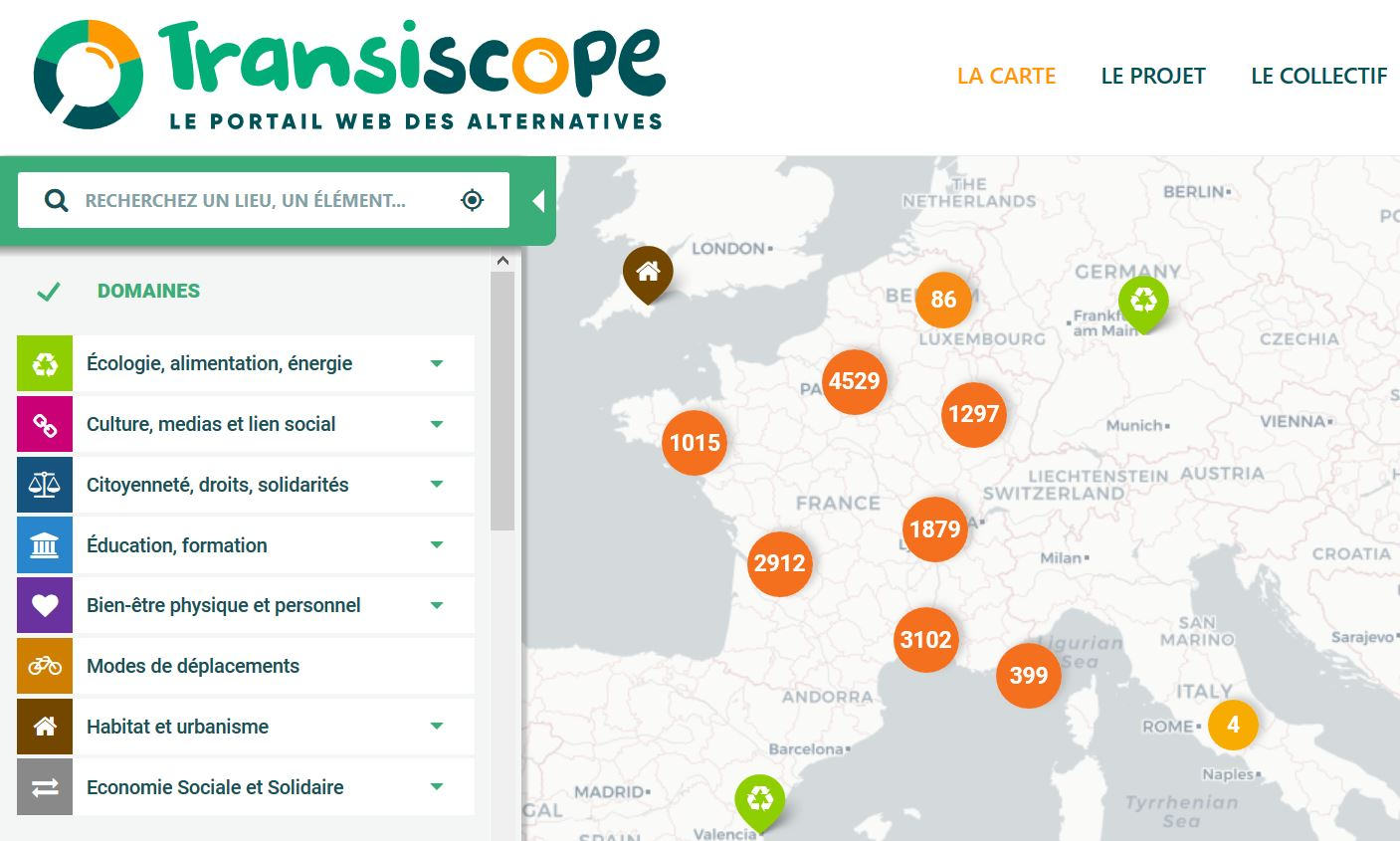 Transiscope recensement et cartographie des alternatives