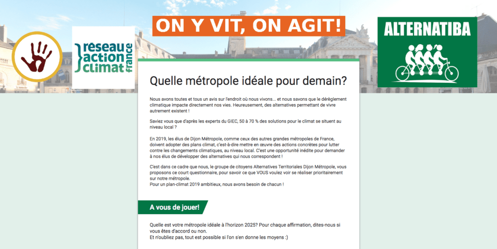 Questionnaire Alternatives Territoriales Dijon