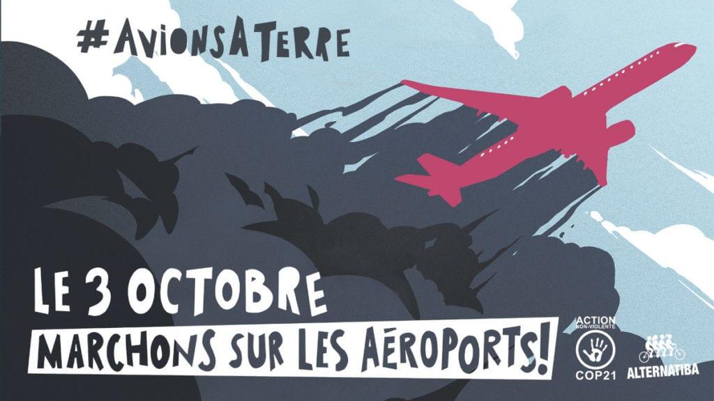 Avions à terre. Le 3 octobre, marchons sur les aéroports !