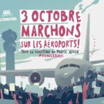 3 octobre, marchons sur les aéroports pour la réduction du trafic aérien
