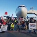 Action sur tarmac Roissy 3 octobre 2020