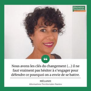 Mélanie est membre du groupe Alternatives Territoriales Nantes.