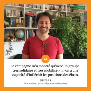 Nicolas est membre du groupe Alternatives Territoriales de Rosny-Sous-Bois.