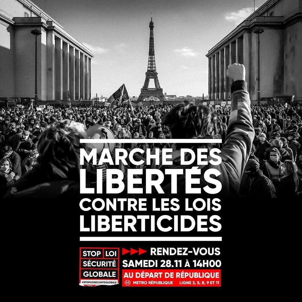 Marche des libertés contre les lois liberticides